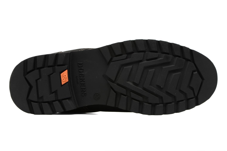 Chaussures à lacets Dockers Rolf Noir vue haut