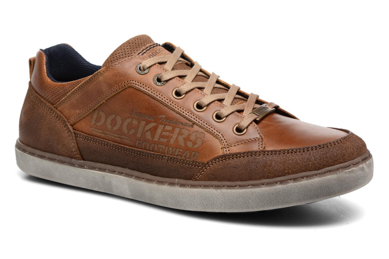 Baskets Dockers Jan Marron vue détail/paire