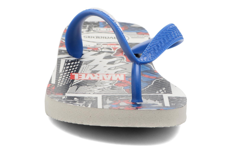 Tongs Havaianas Top Marvel Bleu vue portées chaussures