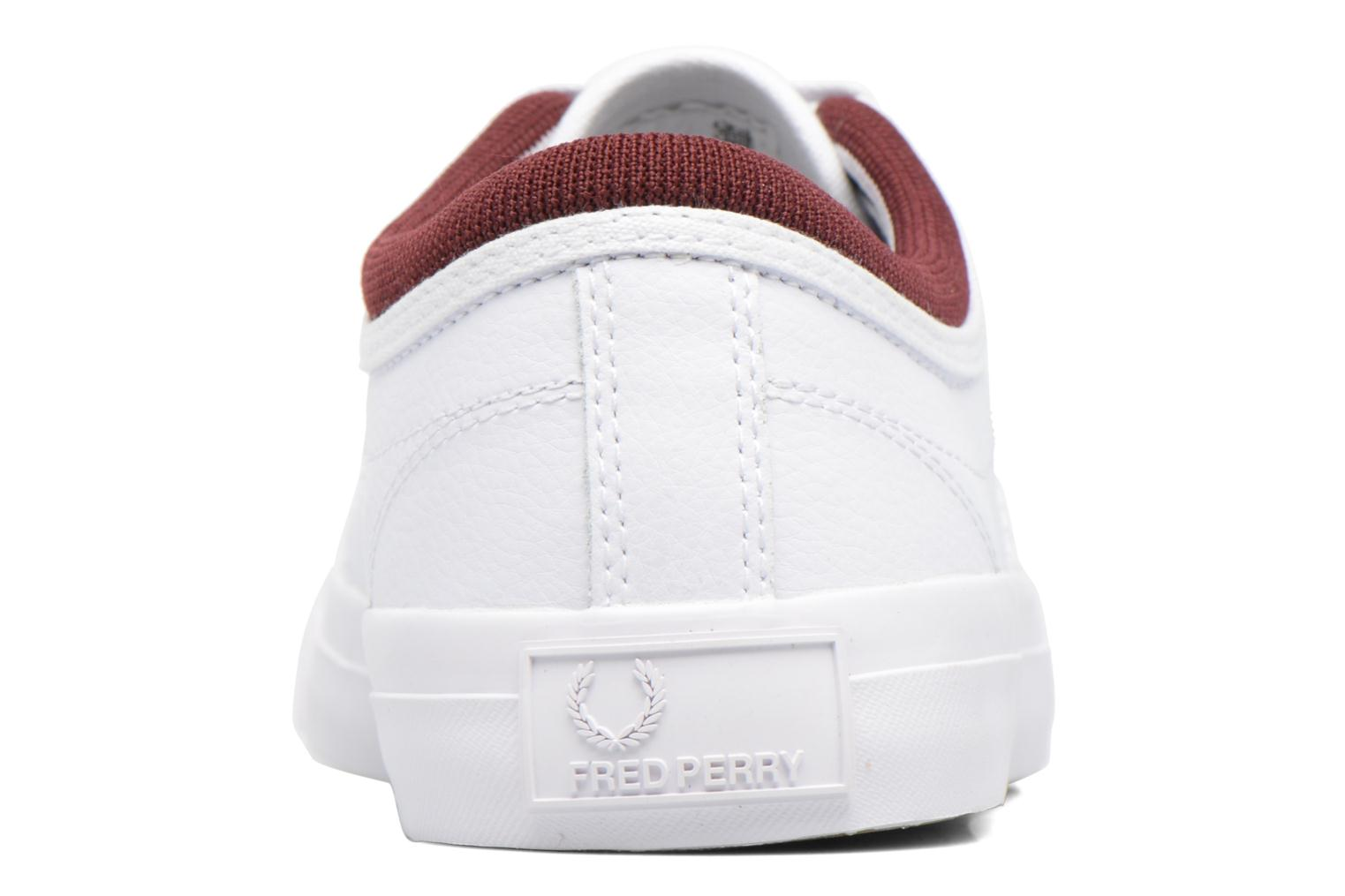 Baskets Fred Perry Kendrick Reversed Tipped Cuff Leather Blanc vue droite