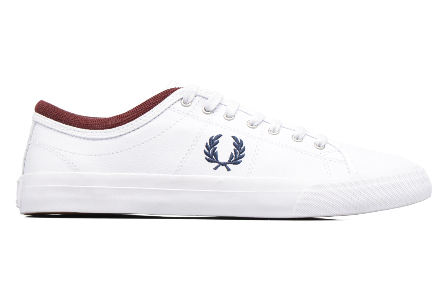 Baskets Fred Perry Kendrick Reversed Tipped Cuff Leather Blanc vue derrière