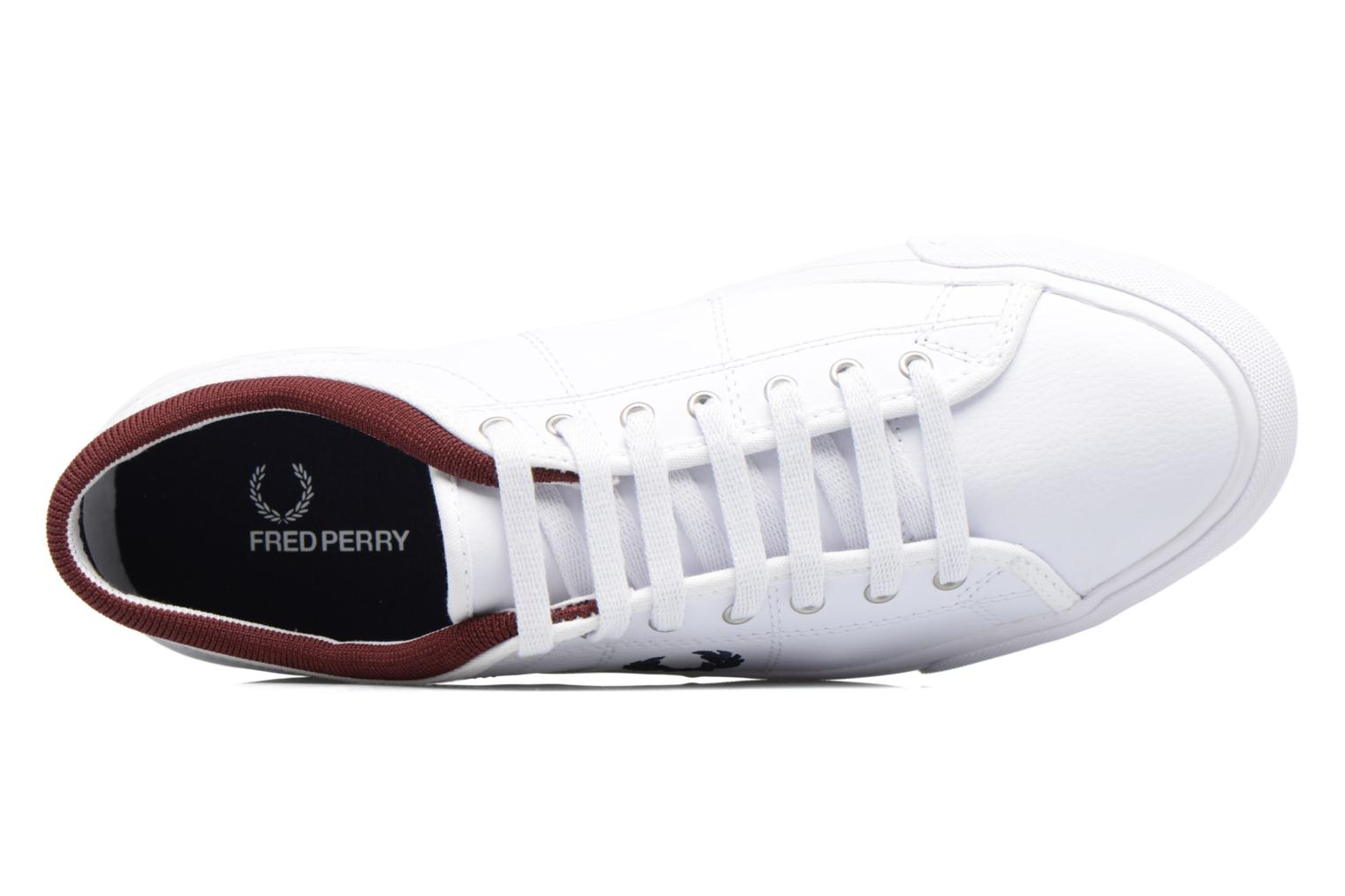 Baskets Fred Perry Kendrick Reversed Tipped Cuff Leather Blanc vue gauche