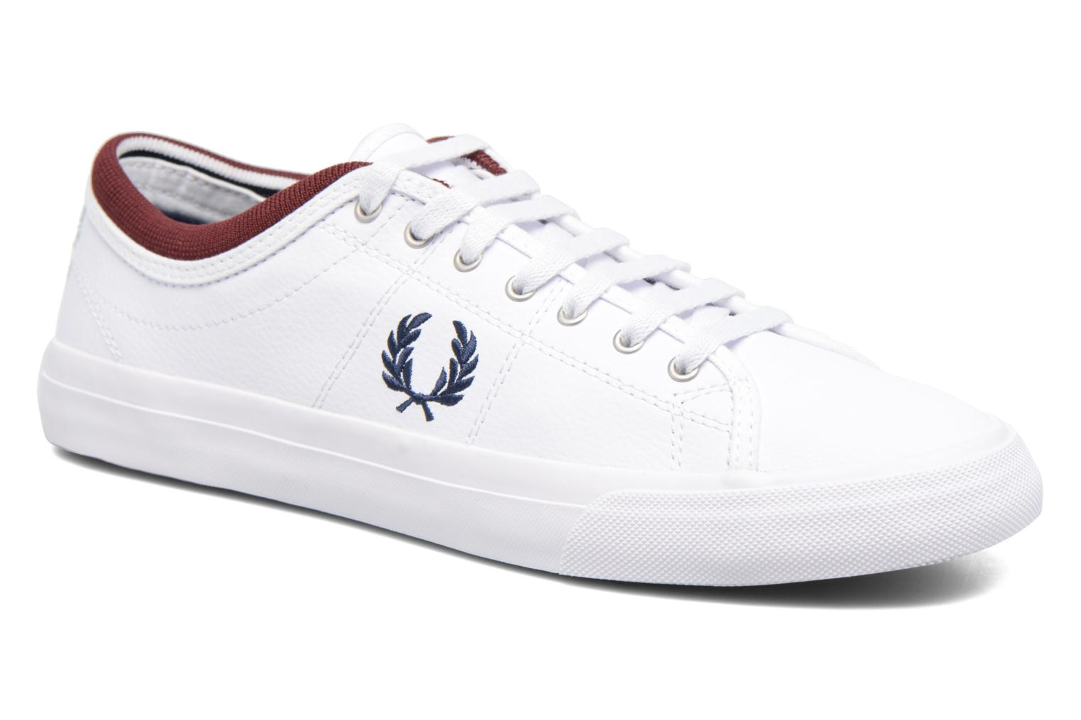 Baskets Fred Perry Kendrick Reversed Tipped Cuff Leather Blanc vue détail/paire