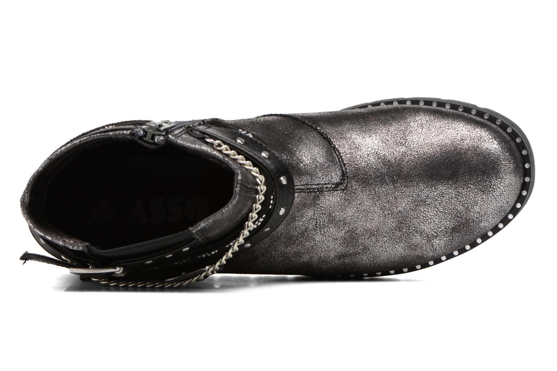 Bottines et boots ASSO 60156 Gris vue gauche