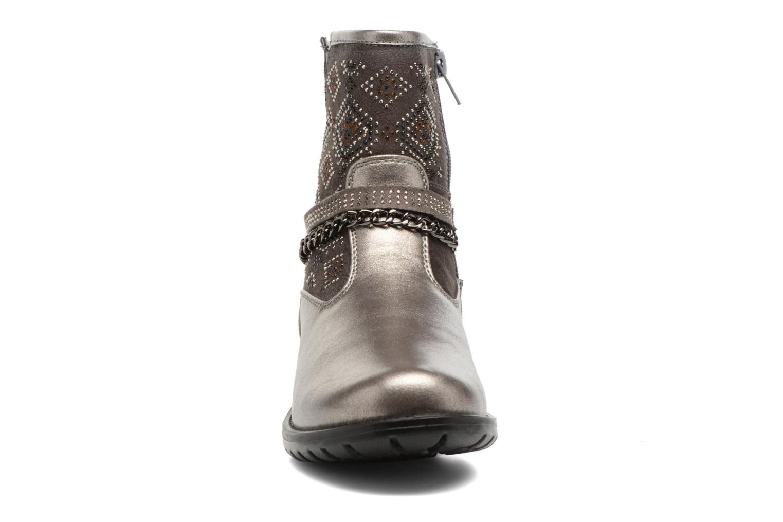Bottes ASSO 58113 Gris vue portées chaussures