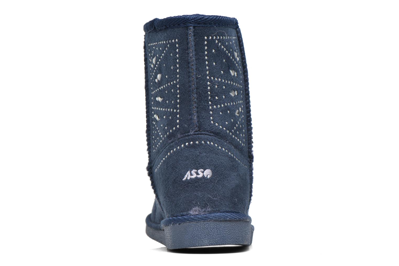 Bottes ASSO 6000 Bleu vue droite