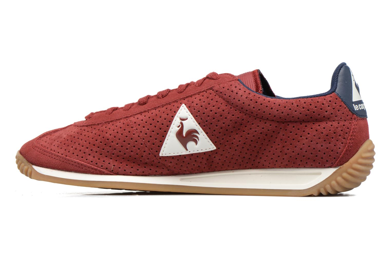 Baskets Le Coq Sportif Quartz Perforated Nubuck Rouge vue face