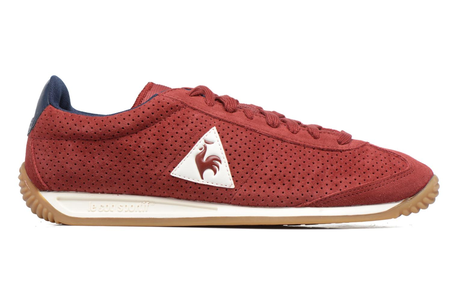 Baskets Le Coq Sportif Quartz Perforated Nubuck Rouge vue derrière