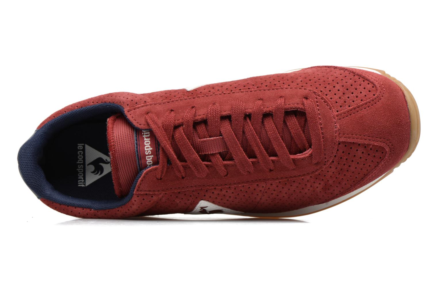 Baskets Le Coq Sportif Quartz Perforated Nubuck Rouge vue gauche