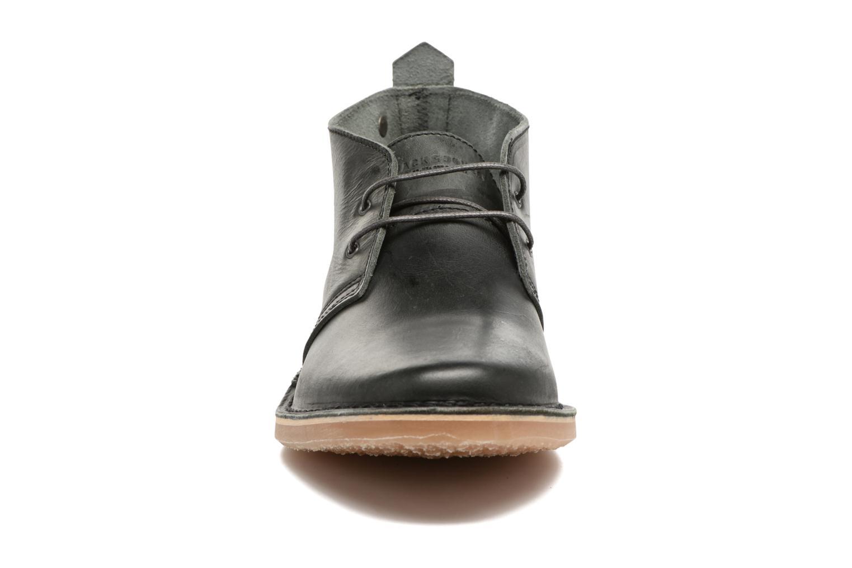 Chaussures à lacets Jack & Jones JFWGOBI LEATHER Noir vue portées chaussures