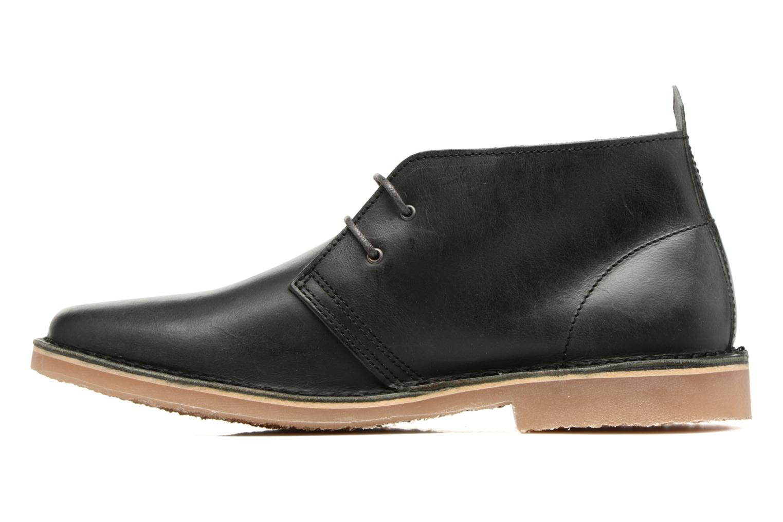 Chaussures à lacets Jack & Jones JFWGOBI LEATHER Noir vue face