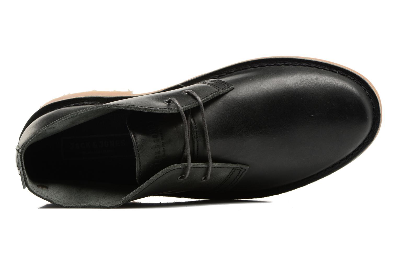 Chaussures à lacets Jack & Jones JFWGOBI LEATHER Noir vue gauche
