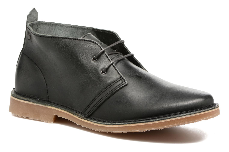 Chaussures à lacets Jack & Jones JFWGOBI LEATHER Noir vue détail/paire