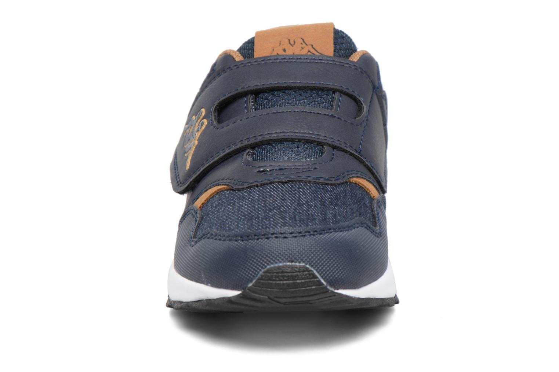 Baskets Kappa Cartago Velcro Bleu vue portées chaussures