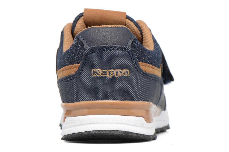 Baskets Kappa Cartago Velcro Bleu vue droite