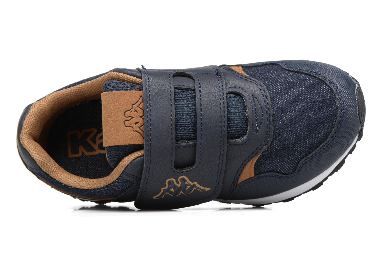 Baskets Kappa Cartago Velcro Bleu vue gauche