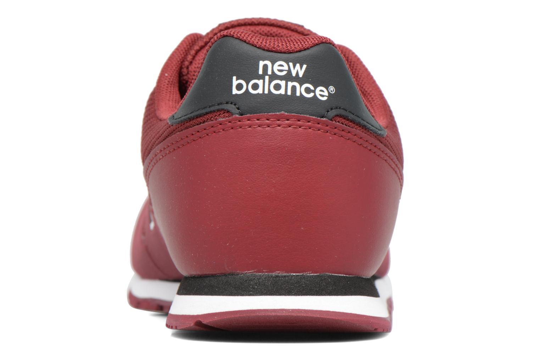 Baskets New Balance KD373 Bordeaux vue droite