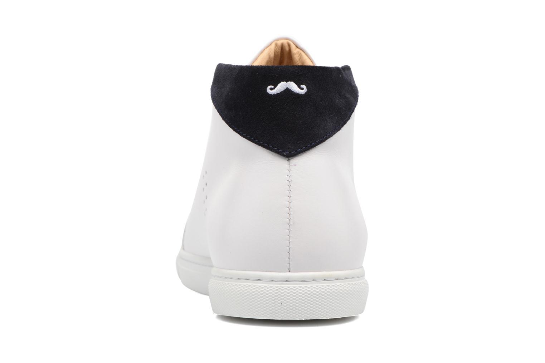 Baskets M. Moustache Richard Blanc vue droite