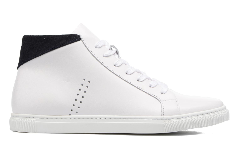 Sneakers M. Moustache Richard Wit achterkant