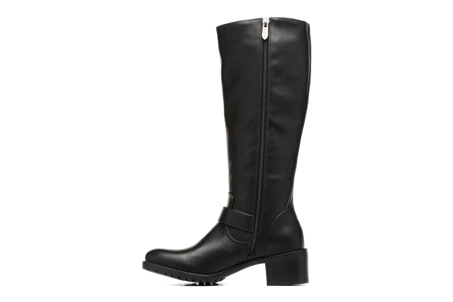 Boots & wellies Les P'tites Bombes Gaelle Black front view