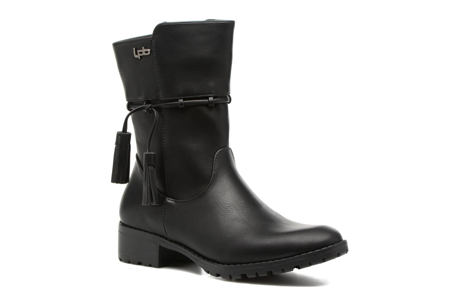 Boots & wellies Les P'tites Bombes Gladys Black detailed view/ Pair view