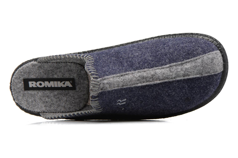 Chaussons Romika Mokasso 62 Bleu vue gauche
