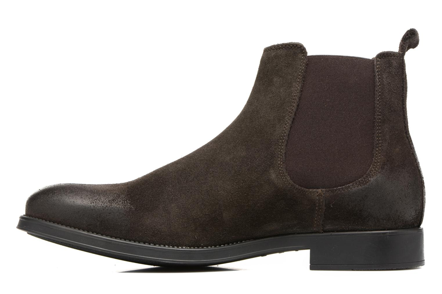 Bottines et boots Selected Homme Oliver suede chelsea boot Marron vue face