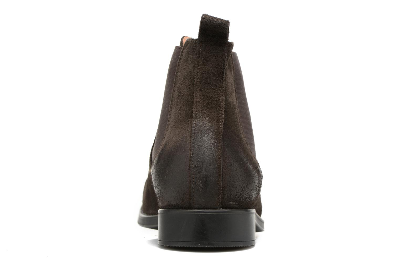 Bottines et boots Selected Homme Oliver suede chelsea boot Marron vue droite