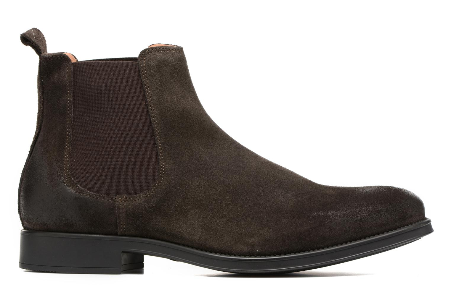 Bottines et boots Selected Homme Oliver suede chelsea boot Marron vue derrière