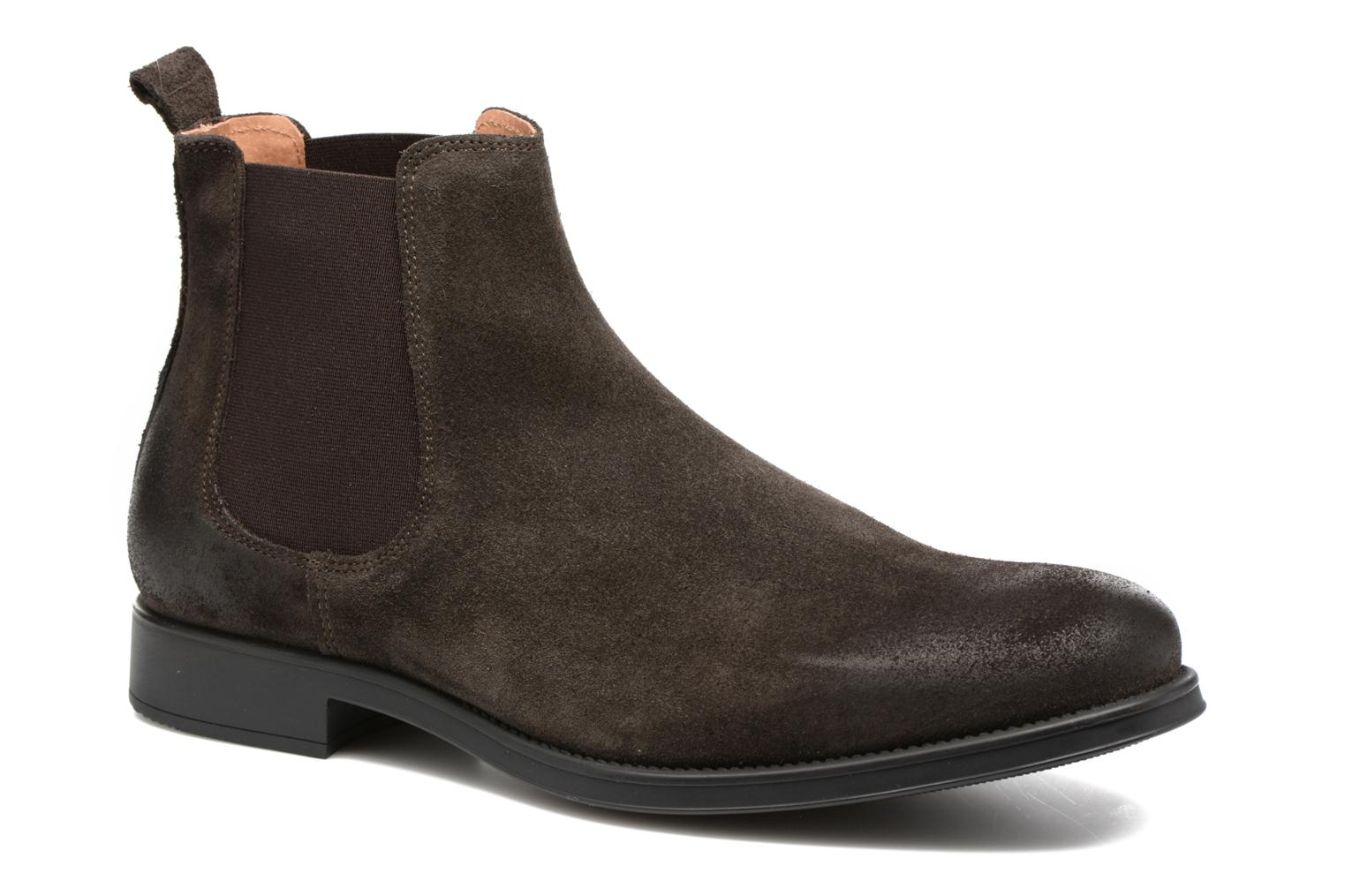 Bottines et boots Selected Homme Oliver suede chelsea boot Marron vue détail/paire