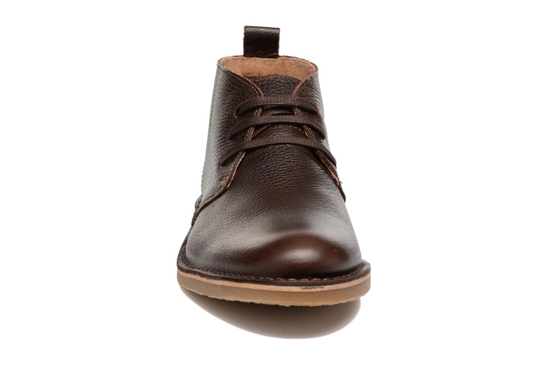 Chaussures à lacets Selected Homme Chukka texas boot Marron vue portées chaussures