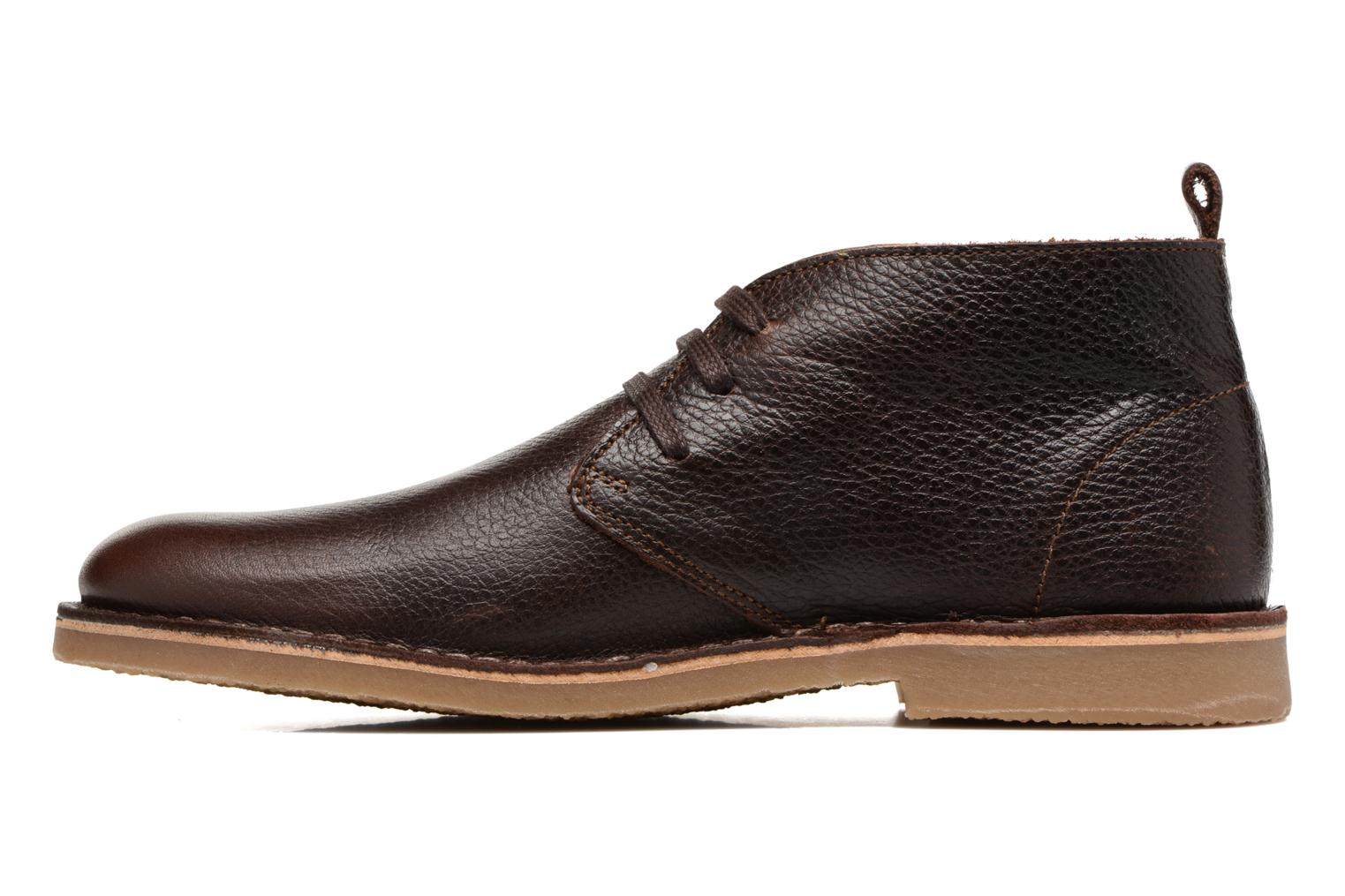 Chaussures à lacets Selected Homme Chukka texas boot Marron vue face