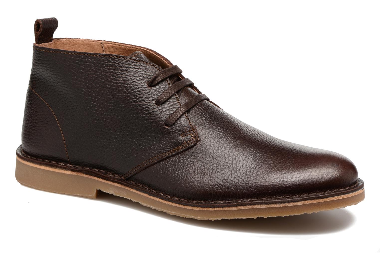 Chaussures à lacets Selected Homme Chukka texas boot Marron vue détail/paire