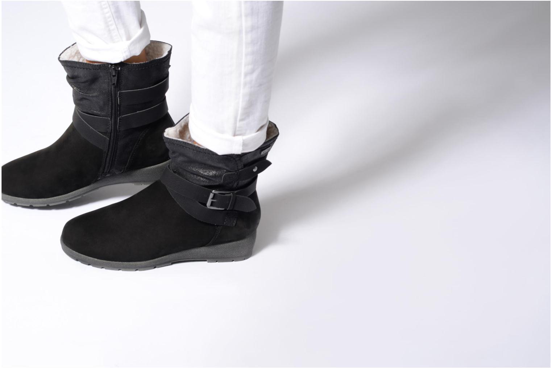 Bottines et boots Jana shoes Ashley Noir vue bas / vue portée sac