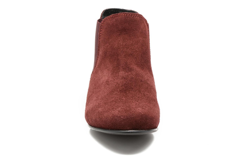 Bottines et boots Les Tropéziennes par M Belarbi Paradizo Rouge vue portées chaussures