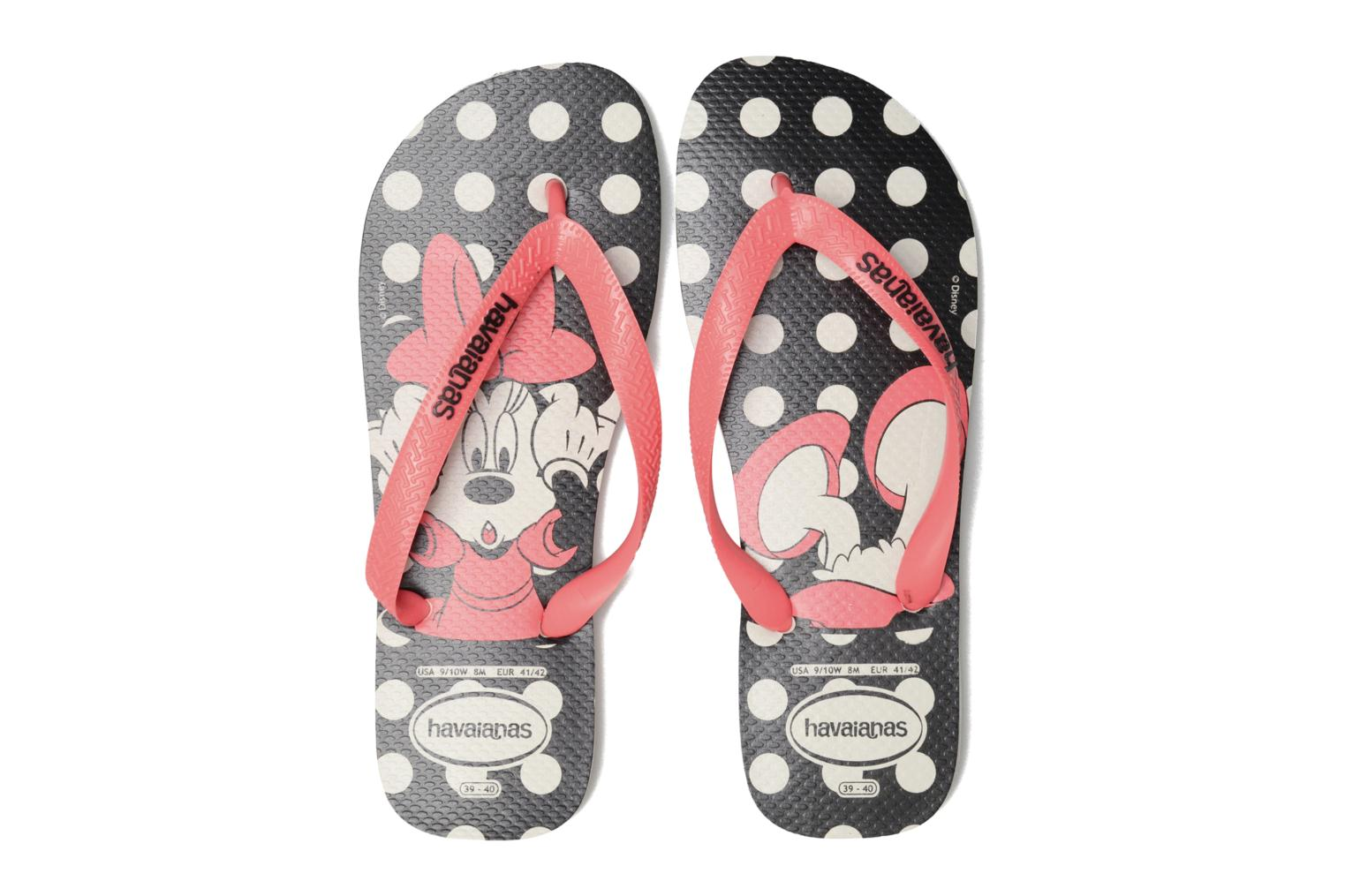 HAV. DISNEY STYLISH WHITE/CORAL NEW FLUOR