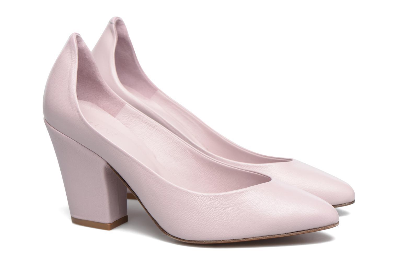 High heels By Far Niki Pump Purple 3/4 view