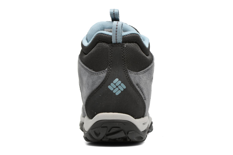 Chaussures de sport Columbia Fire Venture Mid Waterproof Gris vue droite