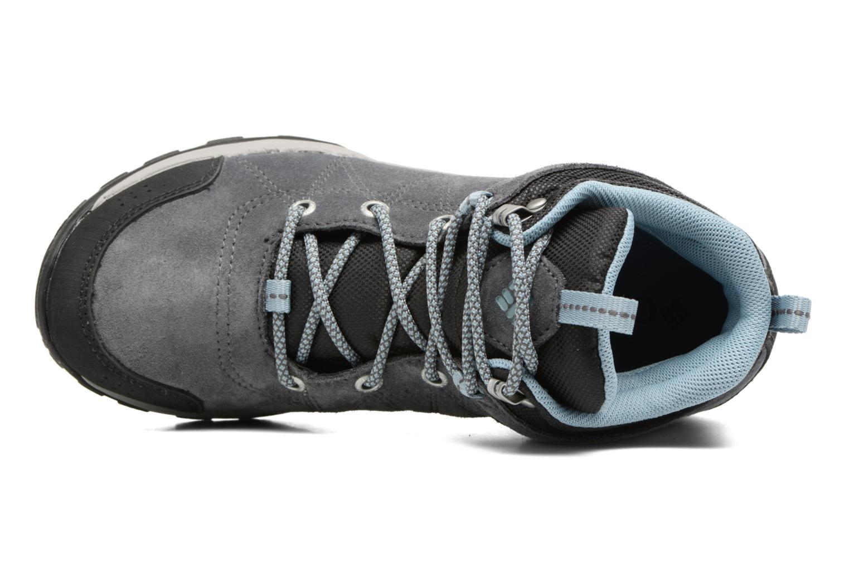 Chaussures de sport Columbia Fire Venture Mid Waterproof Gris vue gauche