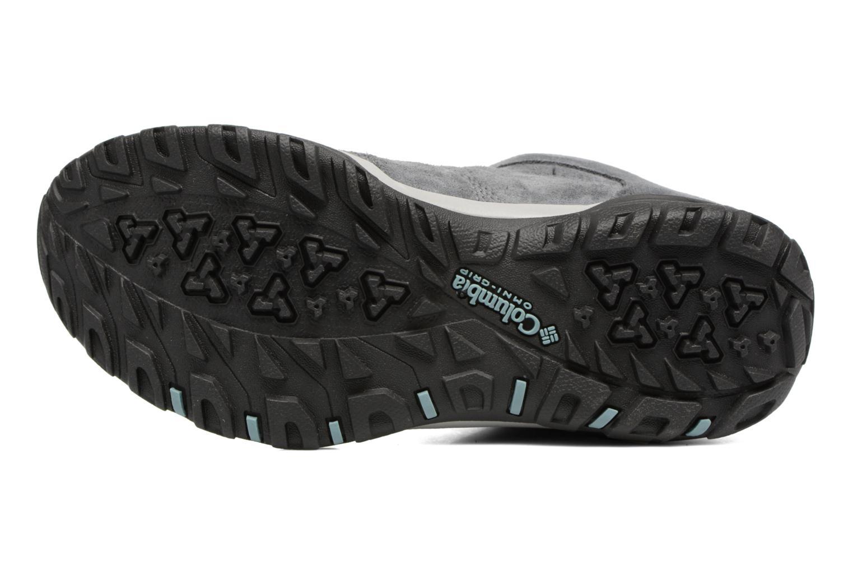 Chaussures de sport Columbia Fire Venture Mid Waterproof Gris vue haut