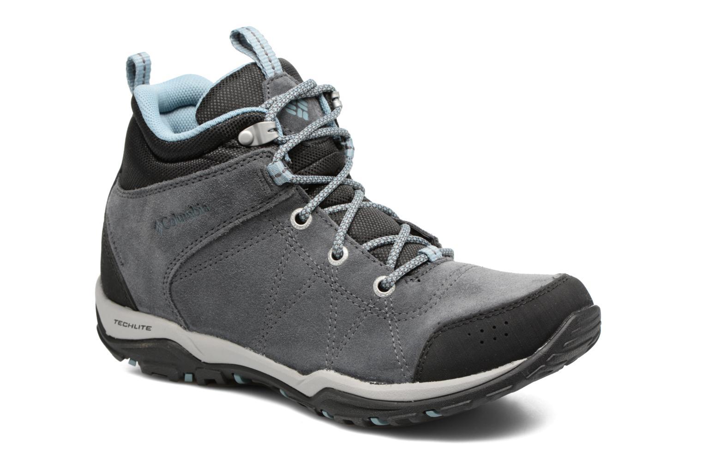 Chaussures de sport Columbia Fire Venture Mid Waterproof Gris vue détail/paire