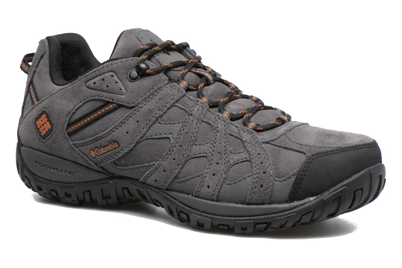 Chaussures de sport Columbia Redmond Leather Omni-Tech Gris vue détail/paire