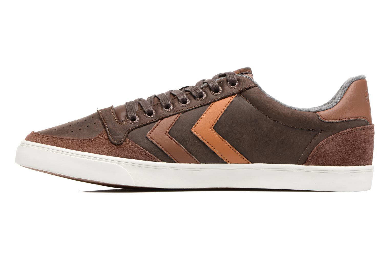 Sneakers Hummel Slimmer Stadil Duo Oiled Low Bruin voorkant