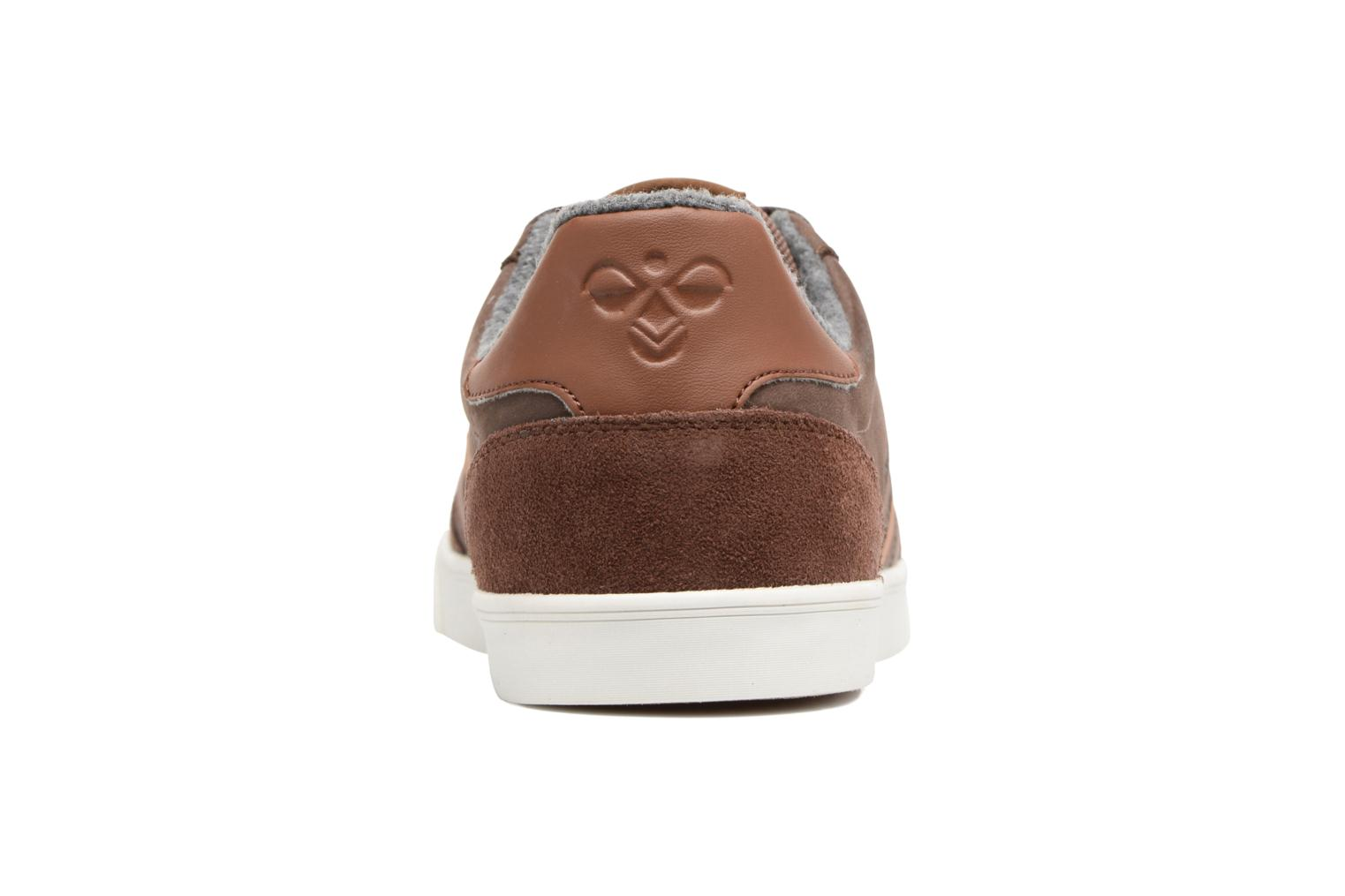 Baskets Hummel Slimmer Stadil Duo Oiled Low Marron vue droite