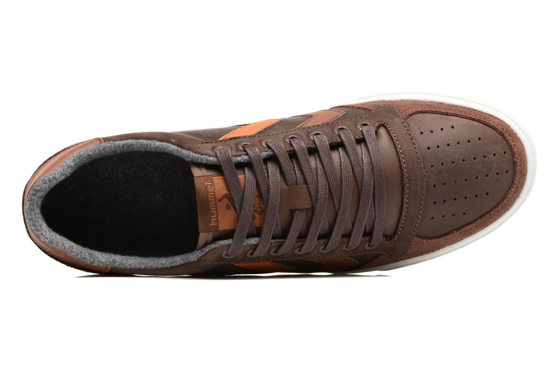 Sneakers Hummel Slimmer Stadil Duo Oiled Low Bruin links