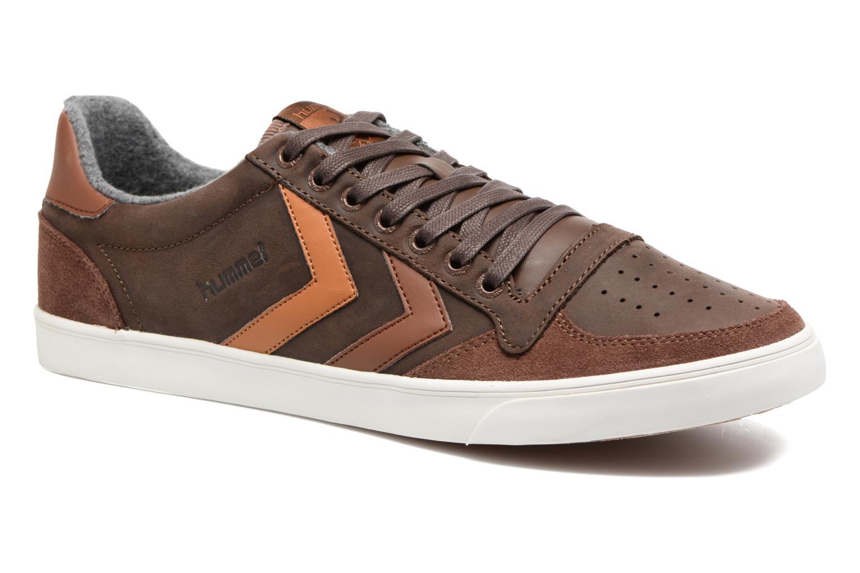 Sneakers Hummel Slimmer Stadil Duo Oiled Low Bruin detail