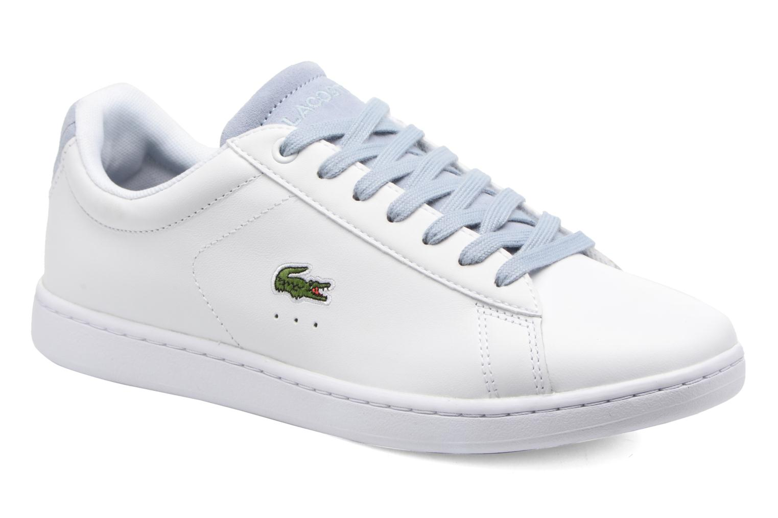 Baskets Lacoste Carnaby Evo 317 1 Blanc vue détail/paire
