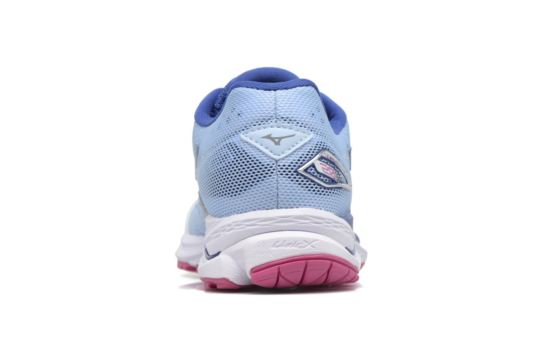 Zapatillas de deporte Mizuno WAVE RIDER 20 (W) Azul vista lateral derecha
