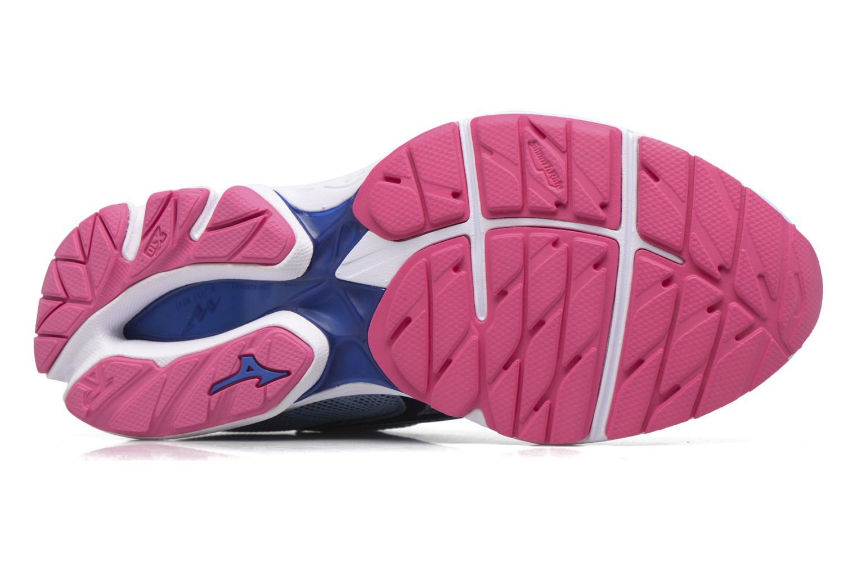 Zapatillas de deporte Mizuno WAVE RIDER 20 (W) Azul vista de arriba