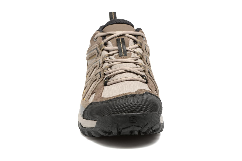 Chaussures de sport Salomon Evasion 2 Gtx Gris vue portées chaussures